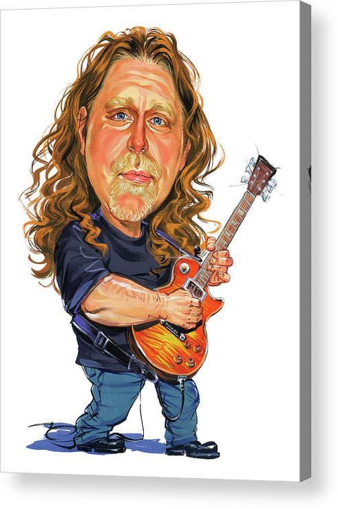 Warren Haynes Acrylic Print featuring the painting Warren Haynes by Art