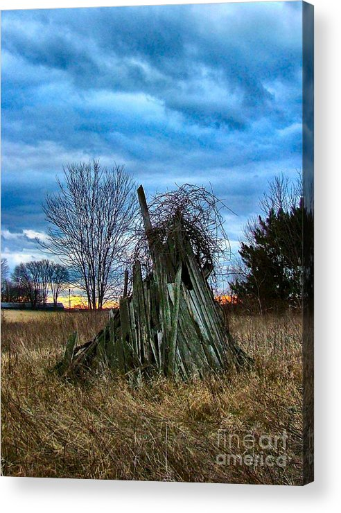 Woodstacks Acrylic Print featuring the photograph The Woodstack by Julie Dant