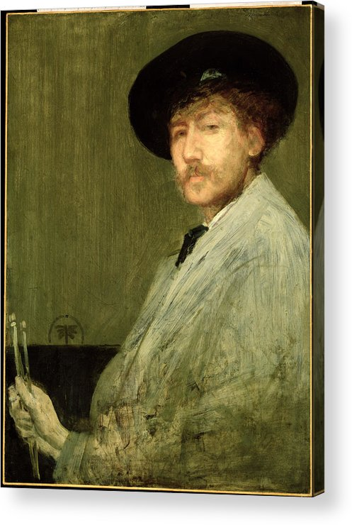 Dtr114682 Acrylic Print featuring the photograph Arrangement In Grey - Portrait Of The Painter by James Abbott McNeill Whistler
