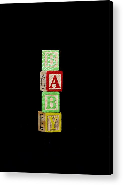 Abc Acrylic Print featuring the photograph Baby Blocks by Malania Hammer