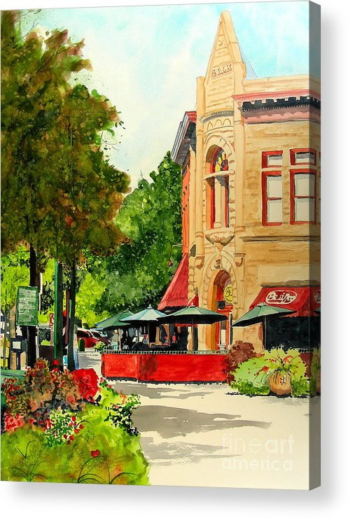 Watercolor Acrylic Print featuring the painting Beau Jo's Down Low by Tom Riggs