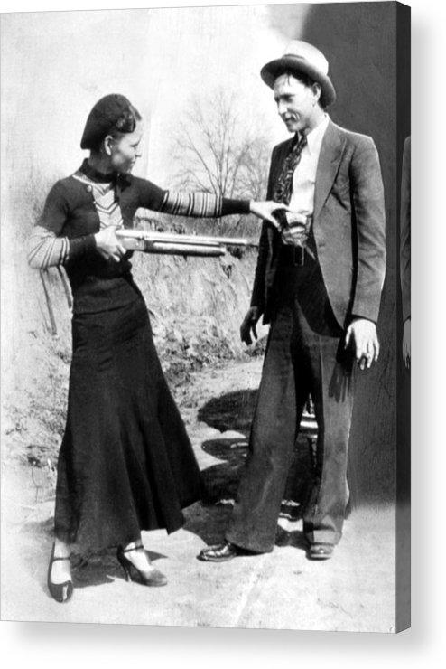 Bonnie Parker And Clyde Barrow 1933 Acrylic Print By Everett