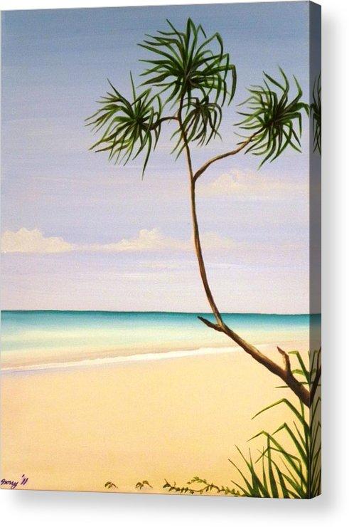 Beach Acrylic Print featuring the painting Doum Palm by Anina von Wachtel Diani Beach Art Gallery