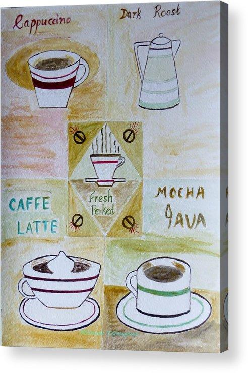 Coffee Acrylic Print featuring the painting Eureka by Sonali Gangane