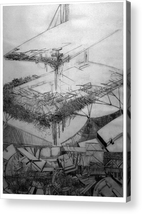 Abstract Acrylic Print featuring the drawing Graphic Art Europa 2013 by Waldemar Szysz