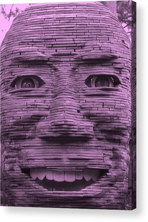 Architecture Acrylic Print featuring the photograph In Your Face In Light Pink by Rob Hans