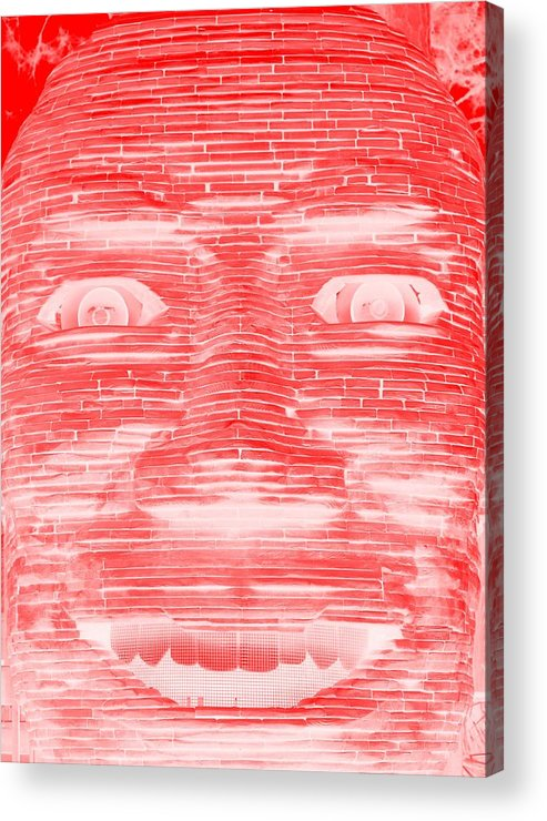 Architecture Acrylic Print featuring the photograph In Your Face In Negative Red by Rob Hans