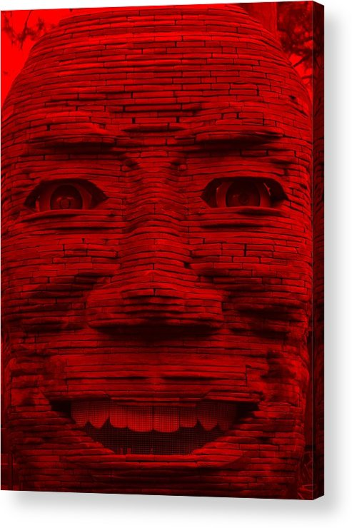 Architecture Acrylic Print featuring the photograph In Your Face In Red by Rob Hans