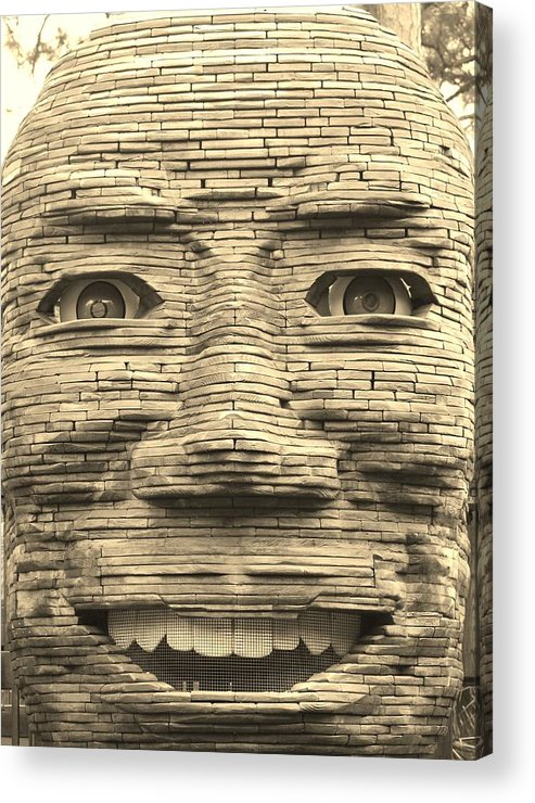 Architecture Acrylic Print featuring the photograph In Your Face In Sepia by Rob Hans