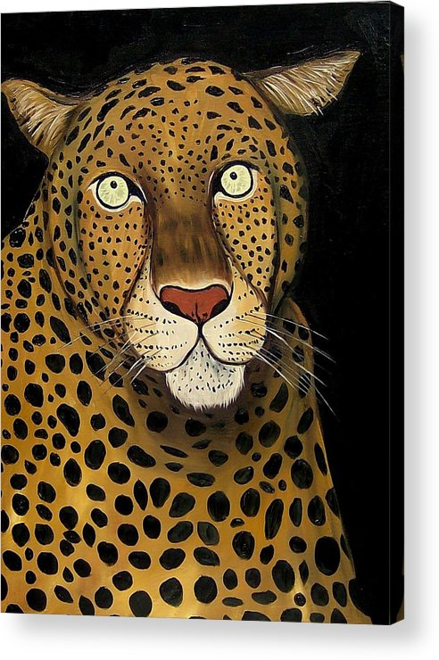 Leopard Acrylic Print featuring the painting Keeping It Wild by Lisa Aerts