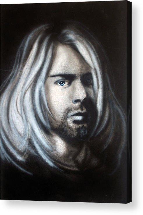 Kurt Cobain Acrylic Print featuring the painting Kurt Cobain by Ann Marie Napoli