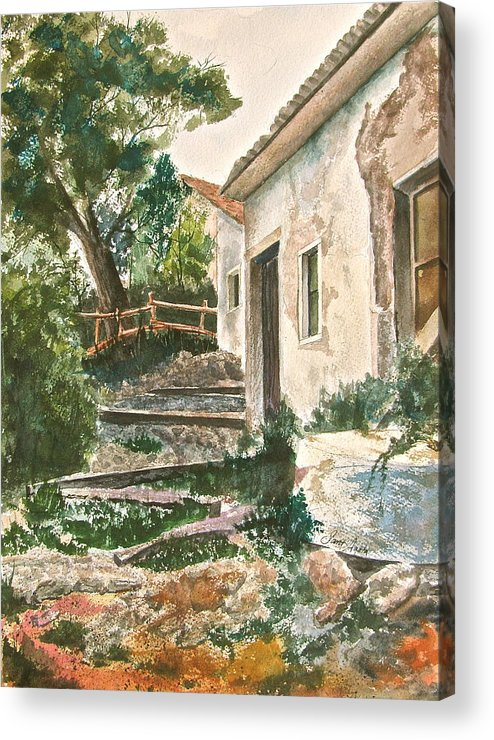Greece Acrylic Print featuring the painting Millstone Aria by Frank SantAgata