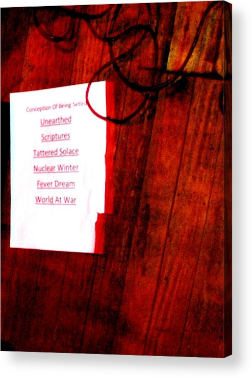 Acrylic Print featuring the photograph Set List by Valerie McDougal