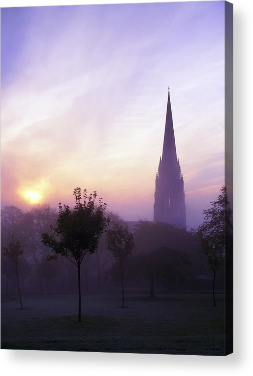 Back Lit Acrylic Print featuring the photograph St Eugenes Cathedral, From Brooke Park by The Irish Image Collection