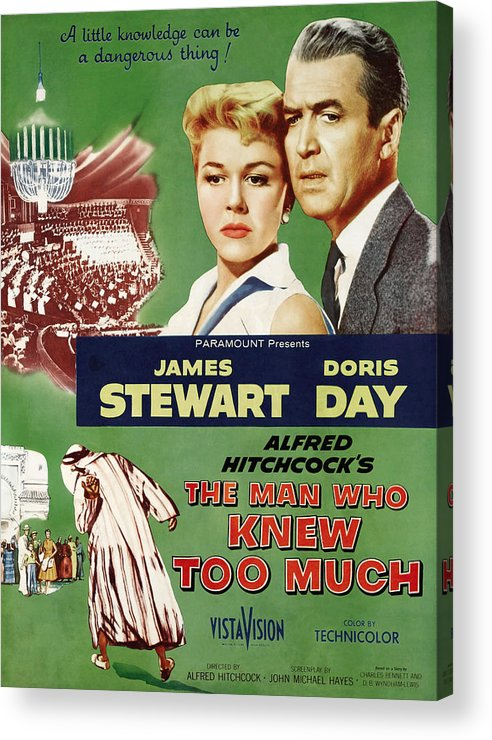 1956 Movies Acrylic Print featuring the photograph The Man Who Knew Too Much, Top by Everett