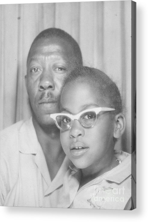 Acrylic Print featuring the photograph Young Angela With Her Dad by Angela L Walker