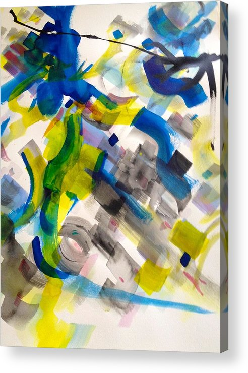 Abstract Acrylic Print featuring the painting 10 by Richard Weiner
