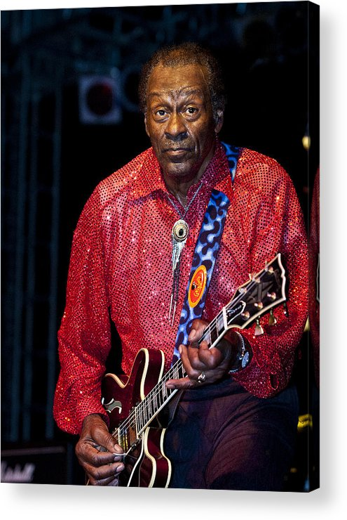 Chuck Berry Acrylic Print featuring the photograph Chuck Berry by Don Beard