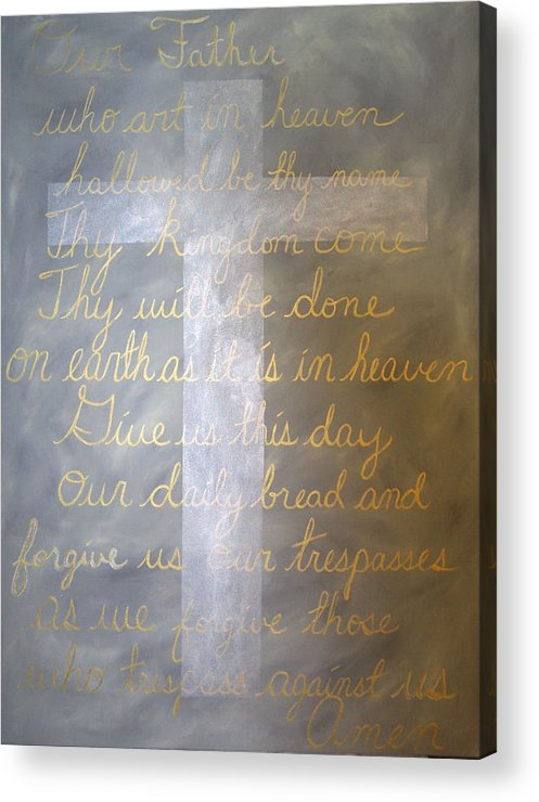 God Acrylic Print featuring the painting Father Forgive Us by Donielle Boal