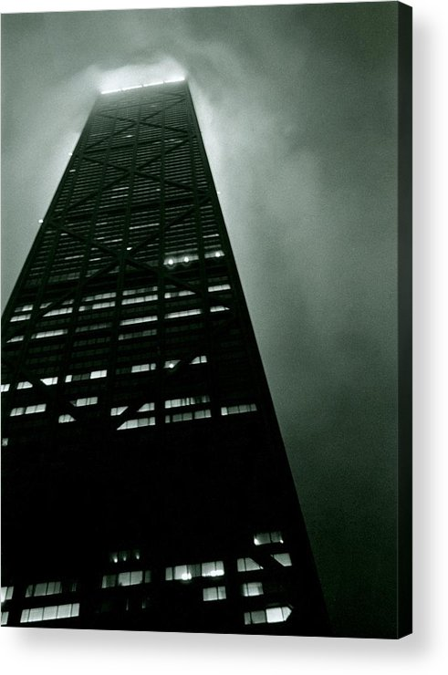 Geometric Acrylic Print featuring the photograph John Hancock Building - Chicago Illinois by Michelle Calkins