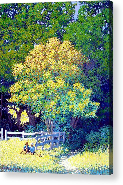 Children Acrylic Print featuring the painting Lost Spies by Kevin Lawrence Leveque
