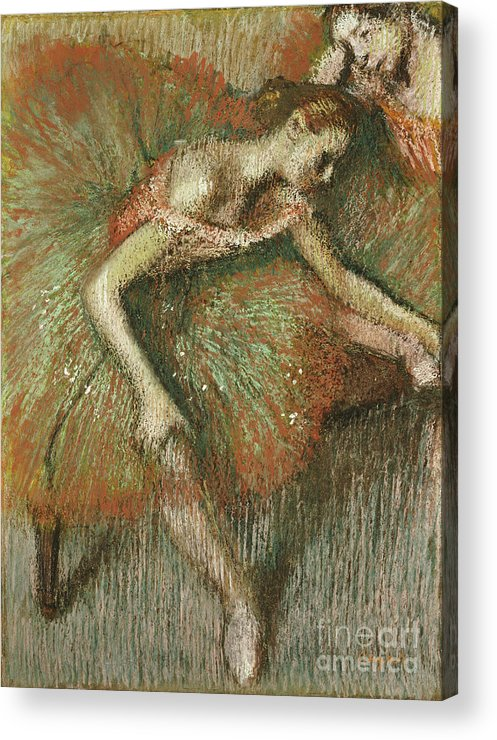 Dancers Acrylic Print featuring the painting Dancers by Edgar Degas