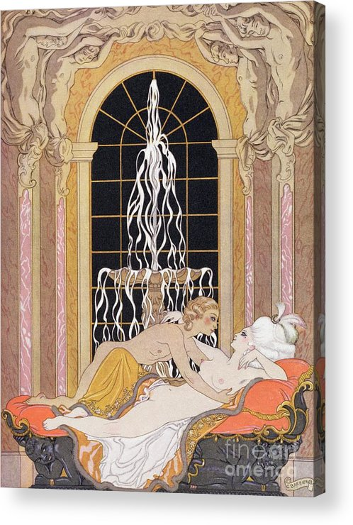 Barbier Acrylic Print featuring the painting Dangerous Liaisons by Georges Barbier