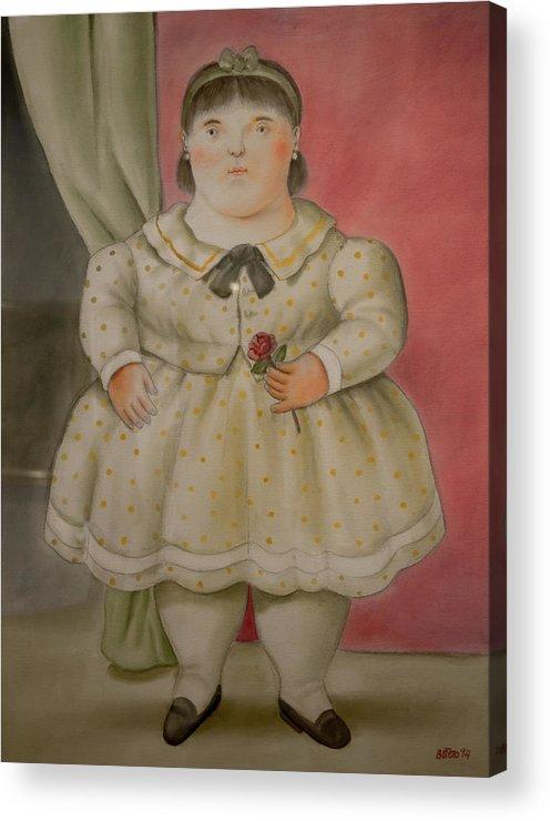 Bogota Acrylic Print featuring the digital art Bogota Museo Botero by Carol Ailles