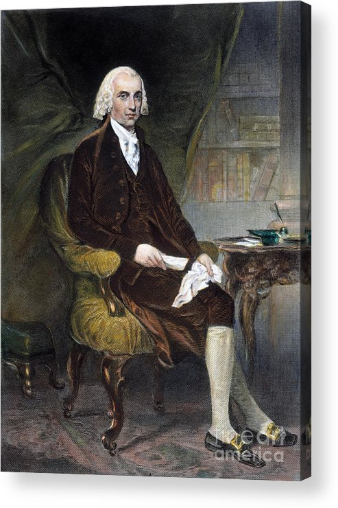 19th Century Acrylic Print featuring the photograph James Madison (1751-1836) by Granger