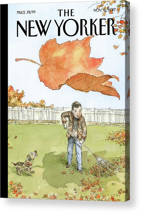 A Rake's Progress Acrylic Print featuring the drawing A Rakes Progress by John Cuneo