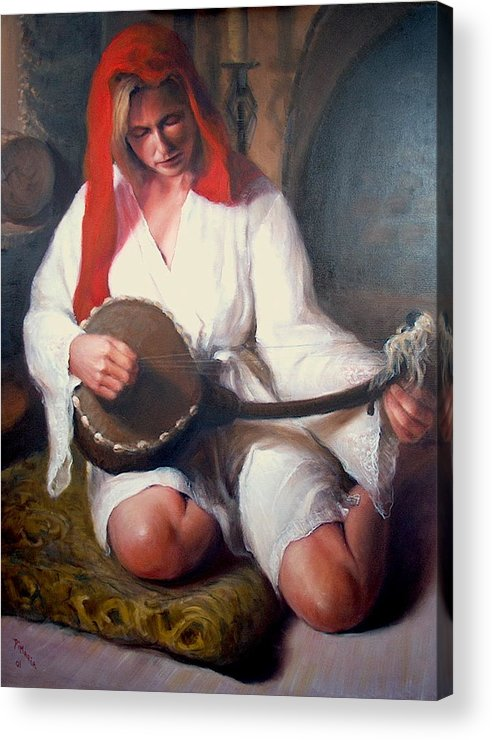 Realism Acrylic Print featuring the painting African Strings 1 by Donelli DiMaria