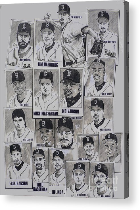 Mbl Acrylic Print featuring the drawing Al East Champions Red Sox Newspaper Poster by Dave Olsen