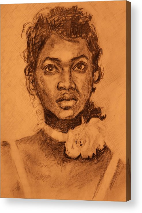 Portrait Acrylic Print featuring the painting Antebellum South by Dan Earle
