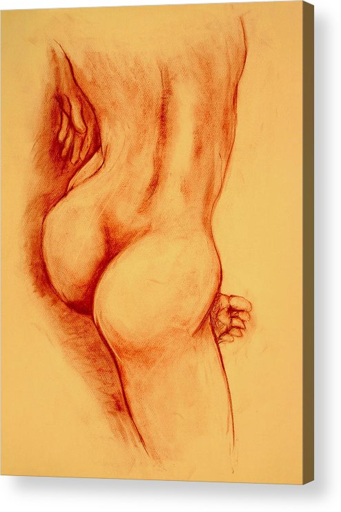 Nude Acrylic Print featuring the painting Asana Nude by Dan Earle