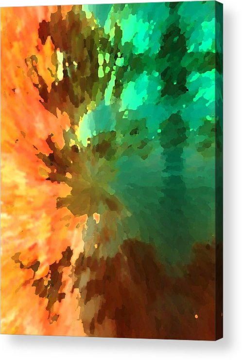 Abstract Acrylic Print featuring the painting Autumn Surprise by Florene Welebny