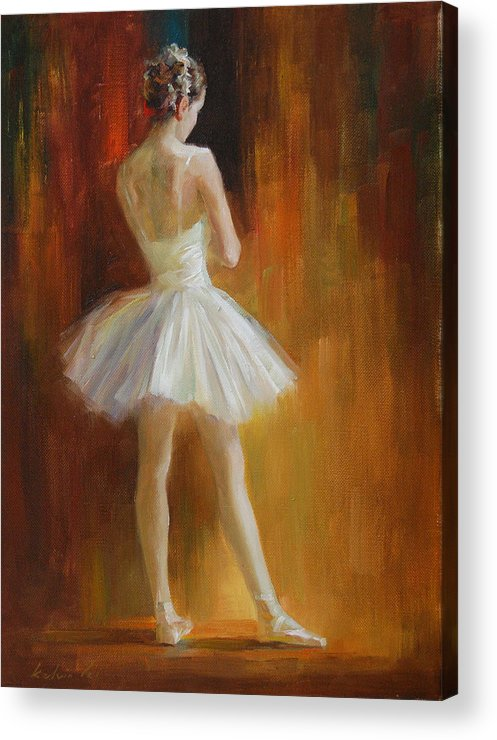 Acrylic Print featuring the painting Ballerina by Kelvin Lei