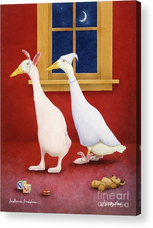 Will Bullas Acrylic Print featuring the painting Bedtime Buddies... by Will Bullas