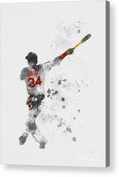 Big Papi Acrylic Print featuring the mixed media Big Papi by My Inspiration