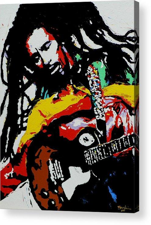 Reggae Acrylic Print featuring the painting Bob Marley by Eddie Lim