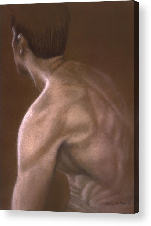 Man Acrylic Print featuring the painting Brown Iv by John Clum