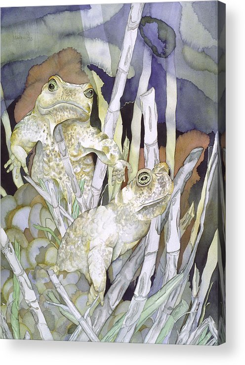 Animals Acrylic Print featuring the painting Bud And Weiss by Liduine Bekman