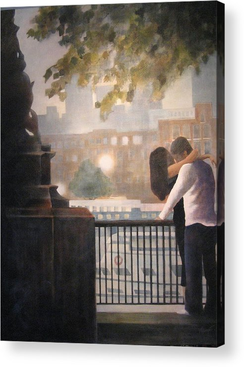 Lovers Acrylic Print featuring the painting Call Me by Victoria Heryet