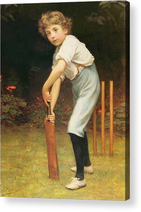 Captain Acrylic Print featuring the painting Captain Of The Eleven by Philip Hermogenes Calderon
