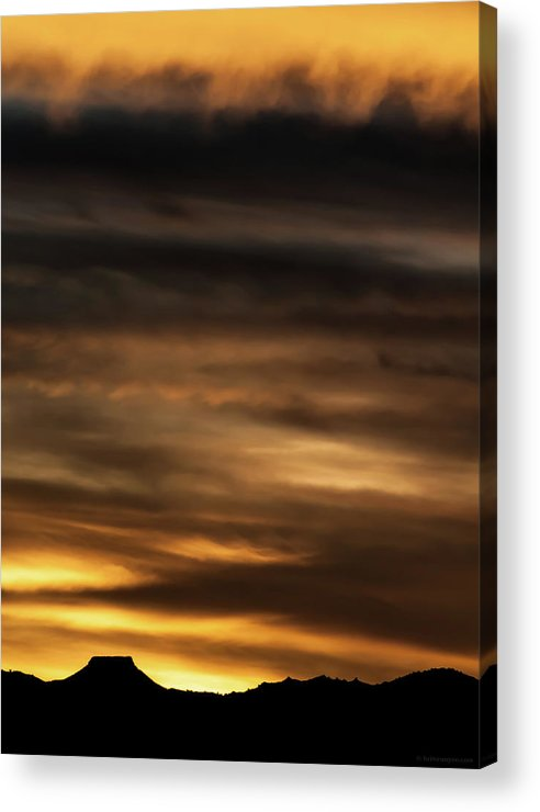 Sunset Acrylic Print featuring the photograph Cerro Pedernal by Britt Runyon