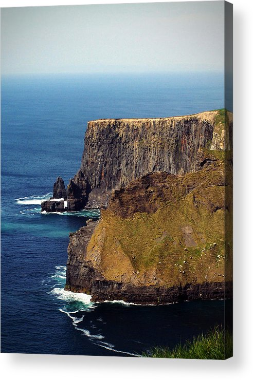 Irish Acrylic Print featuring the photograph Cliffs Of Moher Ireland View Of Aill Na Searrach by Teresa Mucha