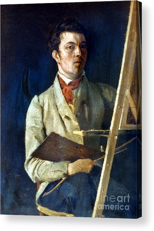1825 Acrylic Print featuring the photograph Corot With Easel, 1825 by Granger