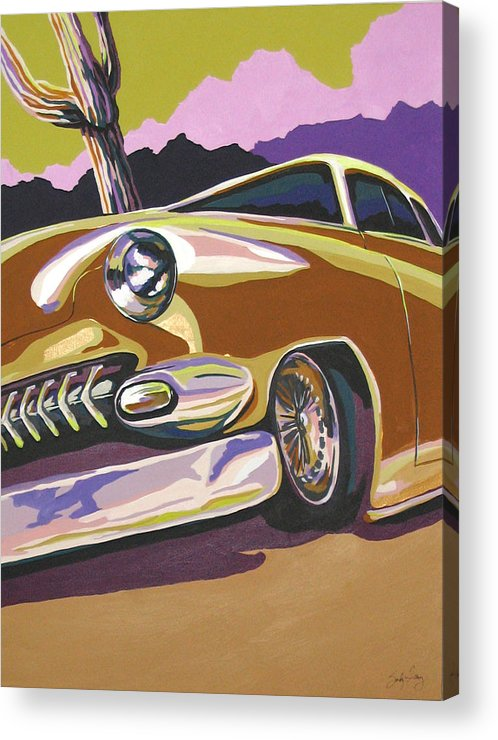 Route 66 Acrylic Print featuring the painting Cruisin by Sandy Tracey
