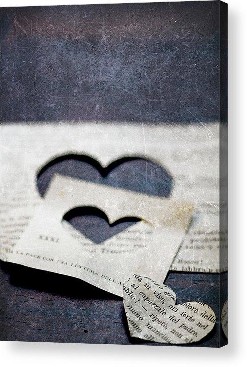 Paper Acrylic Print featuring the photograph Cuori Persi by Rebecca Cozart