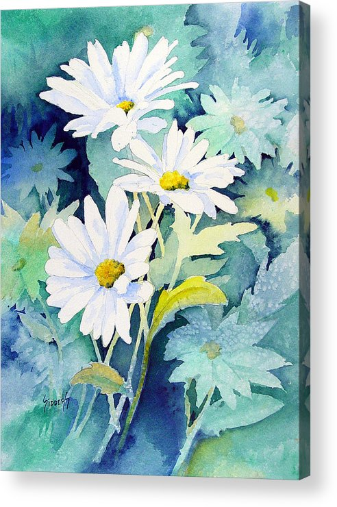 Flowers Acrylic Print featuring the painting Daisies by Sam Sidders