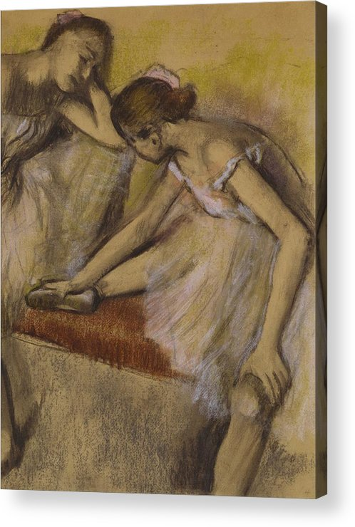 Dancers Acrylic Print featuring the painting Dancers In Repose by Edgar Degas